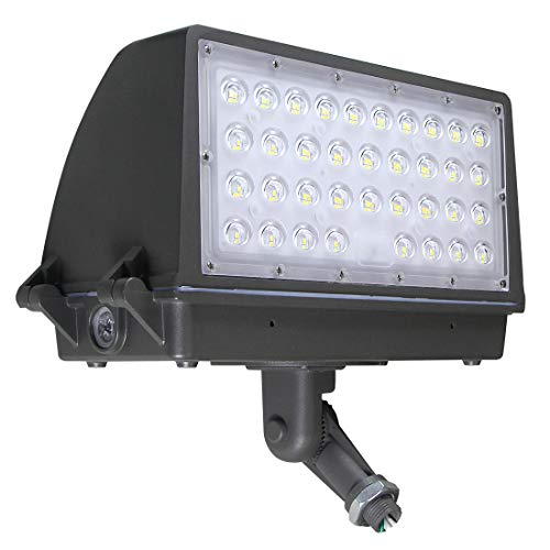 Kadision 100W LED Flood Light with Dusk to Dawn Photocell, Adjustable Arm Knuckle Mount Full Cut Off Area Security Lights, Replaces 350W MH 12000lm 5000K 100-277Vac IP65 Waterproof