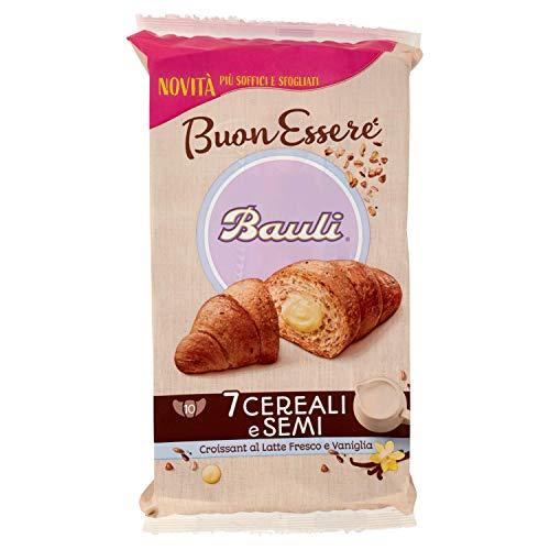 Bauli Croissant Buonessere 7 Cereali e Semi con Latte e Vaniglia, 1 confezione da 10 unità