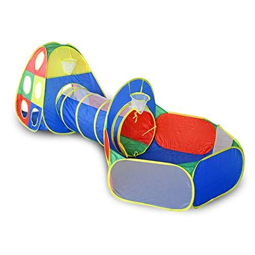 Los Niños Plegables Juegan a La Tienda Bola Pozo Túnel Tubo Crawl Playhouse Tienda Interior Al Aire Libre Deporte Juego Juguete Padre-Niño Interacción Picnic Patio Regalo De Vacaciones