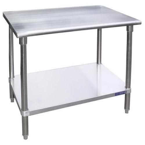 Universal SG1830 - 30 X 18 Stainless Steel Work Table W Galvanized Under Shelf