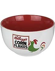 Kellogg's CMKG30553 Bol Corn Flakes D.14 H.8 CM, cerámica, Blanco Rojo, 14 x 14 x 8 cm