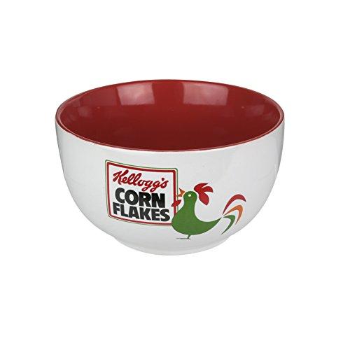 Kellogg's KG30553 Müslischale, Keramik, Weiß, Rot, 14 x 14 x 8 cm