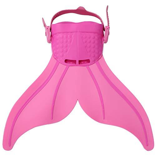 Sdfafrreg Aletas de Entrenamiento de natación cómodas, Aletas de natación Transpirables, Snorkel Antideslizante para niños(Pink)