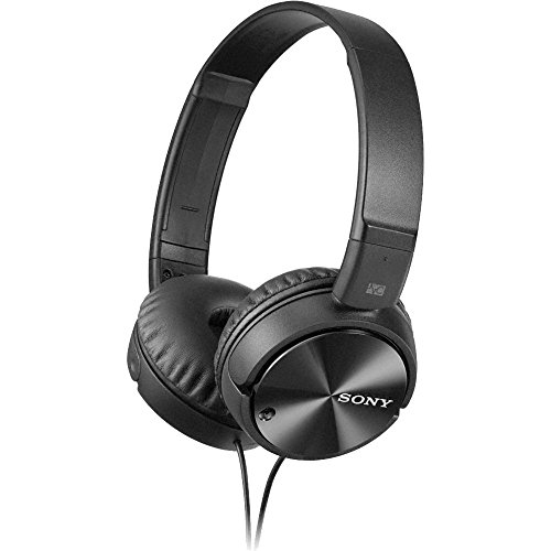 Sony MDR-ZX110NC Extra Bass Noise-Cancelling Headphones with Neodymium Magnets & 30mm Drivers, Black (Renewed)