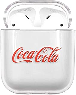 Hard Plastic Transparent Clear Red CocaCola Case for Apple Airpods 1 2 Wireless Earbuds Drink Coca Cola Coke Luxury Design...