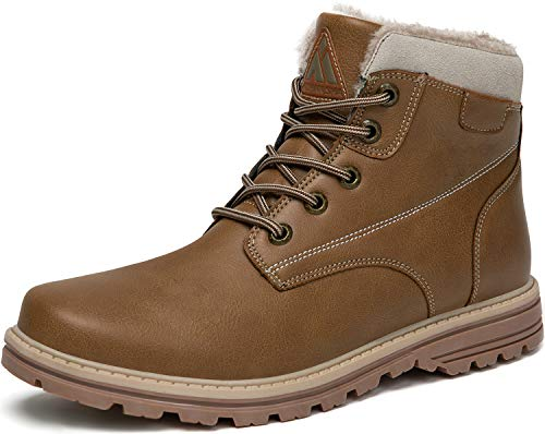 Winterschuhe Damen Gefüttert Winterstiefel Wasserdicht Freizeit Warme Frau Schuhe rutschfest Wander Schuhe Outdoor Leder Boots gr.39 EU