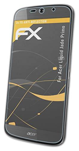 atFolix Panzerfolie kompatibel mit Acer Liquid Jade Primo Schutzfolie, entspiegelnde & stoßdämpfende FX Folie (3X)