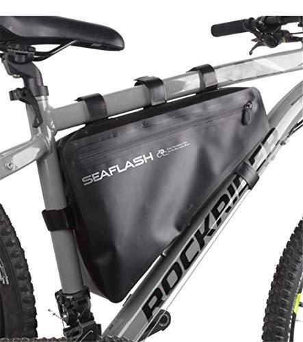 Nicole Knupfer Fahrrad Dreiecktasche Wasserdicht,Fahrradtasche Rahmen, Triangeltasche Fahrradrahmentasche,Fahrrad Werkzeugtasche, Triangle Fahrradaufbewahrung Rahmentasche