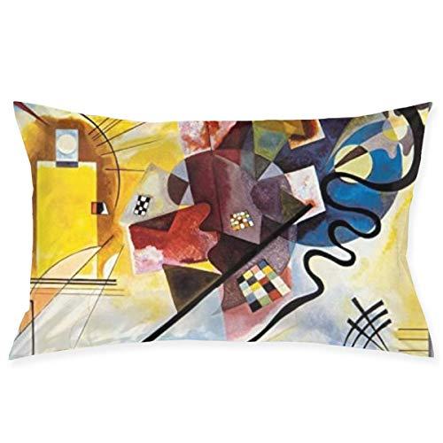 Sdltkhy Cremallera Oculta, Funda de Almohada Colorida, Simple y Elegante, Adecuada para Almohadas de sofá, Cojines de Coche, Amarillo, Rojo, Azul Abstracto