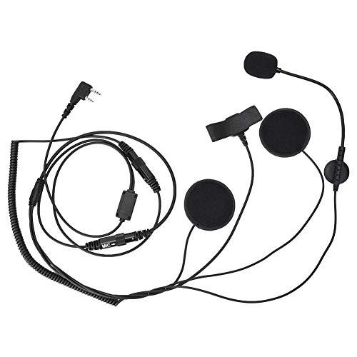 K Head radio walkie talkie motorfiets fiets headset helm microfoon headset met waterdichte PTT-functie en Velcro headset hoofdtelefoon Voor motorfietsen, sneeuwscooters en sportrijders
