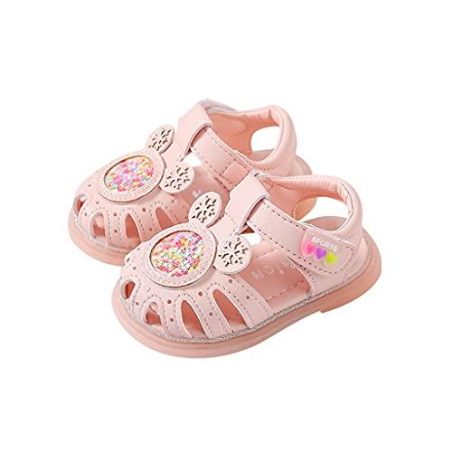 WXYPP Sandali per Bambini Scarpe da Bambina da Estate Scarpe da Principessa Soft Bottom Antiscivolo Adatto per 0-1-2 Anni Sandali per Bambini Fit (Color : Pink, Size : 13cm)