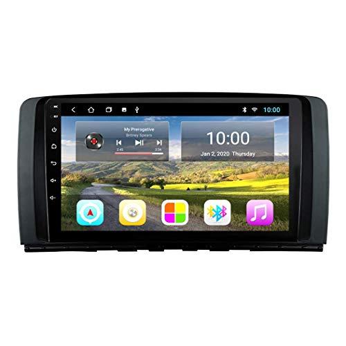 LXDDP 9 Zoll Android 10 Auto DVD GPS Navigation kompatibel mit Mercedes Benz R Klasse W251 R280 R300 R320 R350, GPS Radio Stereo