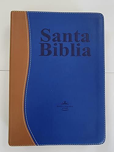 Compare Textbook Prices for Biblia Letra Gigante con Concordancia   Reina Valera 1960 - imit. piel duotono cafe y azul con índice  ISBN 9781622152414 by Senda de Vida