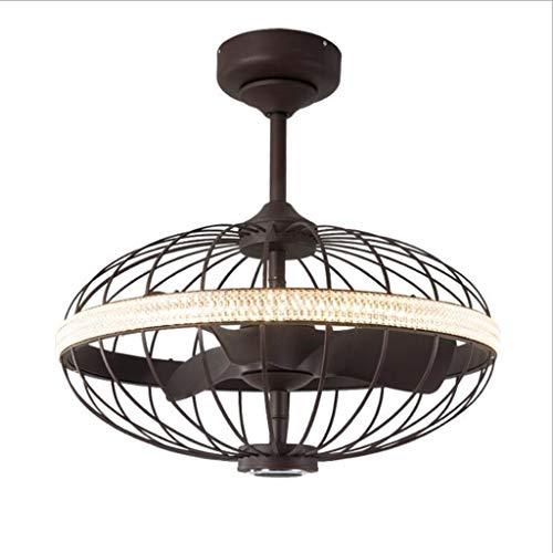 Ventilador de techo con luz Bluetooth, para oficina, dormitorio, sala de estar, ventilador de techo, lámpara de metal con luz LED (tamaño: 66 cm)