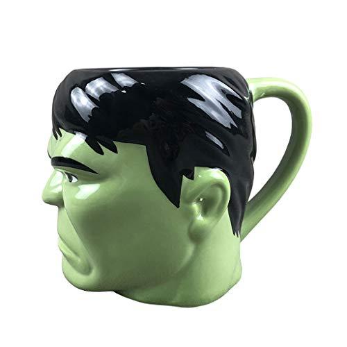AOHAI Taza divertida con forma de puño, taza de café, taza de cerámica, taza de agua para niños, 12 onzas, fácil de limpiar, taza de té para café, taza de té (color: Hulk)