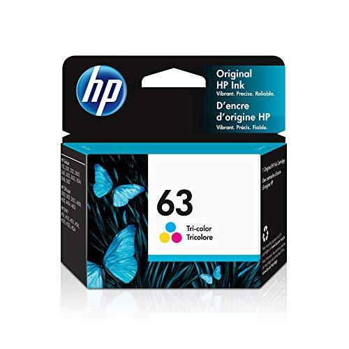 HP 63 | Ink Cartridge | Works with HP Deskjet 1112, 2100 Series, 3600 Series, HP ENVY 4500 Series, HP OfficeJet 3800 Series, 4600 Series, 5200 Series | Tri-color | F6U61AN