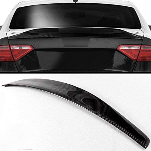 lowest Mophorn Carbon discount Fiber Rear Spoiler discount Trunk Wing Compatible with 2008-2016 Audi A5 Carbon Fiber Rear Trunk Spoiler Hogh Kick Boot LID Wing fits 2008-2016 AUDI A5 B8/B9 2-Door Coupe Models sale