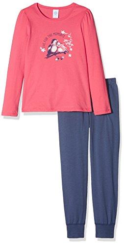 Sanetta Mädchen 232080 Long Zweiteiliger Schlafanzug, Rosa (Kiss 3834), 92