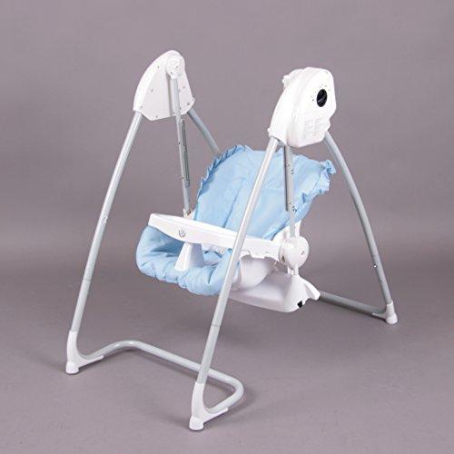 Fantástica 2 en 1 Trona + Balancín eléctrico azul Homey - BambinoWorld