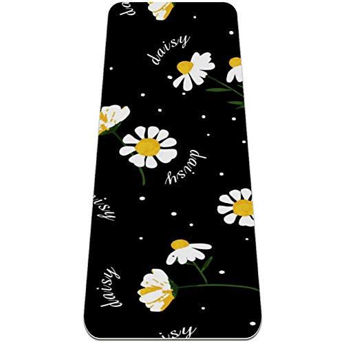Eslifey Esterilla de yoga de crisantemo, gruesa, antideslizante, para mujeres y niñas, suave pilates, (182,8 x 60,9 cm, 0,6 cm de grosor)