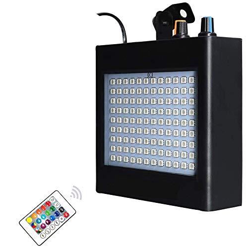ENUOLI ultra brillante LED RGB luces estroboscópicas 25W 108 LED super brillante Mixta flash Etapa de iluminación con control manual y sonido activado el modo de velocidad y ajustable en flash para