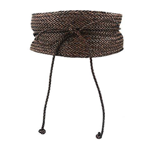 Mix Your Beauty MYB Cintura fusciacca intrecciata per donna - modello obi - taglia unica - diversi colori disponibili (Marrone)