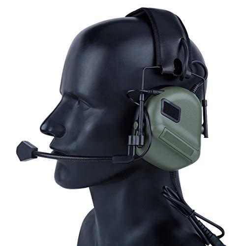 GODNECE Helm Headset Airsoft, Upgrated Headset Taktisch Headset Militär Helm WST Gen.5 Jagd Headset Rauschunterdrückungs Headset HD-09
