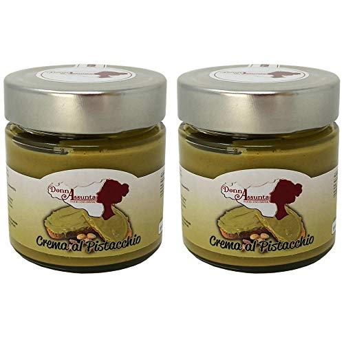 DonnAssunta Sizilianische Pistaziencreme 200g – Der wahre Geschmack von Pistazien auf Brot, natürliche Pistaziencreme hergestellt 100% italienisch – Hochwertige Proteinpaste (2 pz)