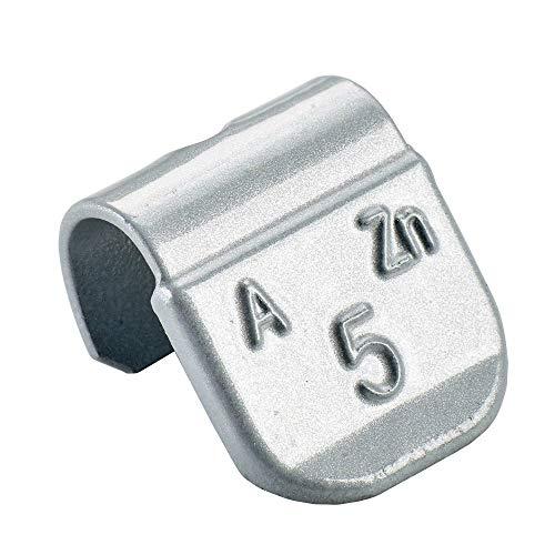 100x Poids marteau pour jantes en aluminium de type63 5g argentés | Poids marteau en aluminium poids d'équilibrage jante en aluminium | Poids d'équilibrage jantes en aluminium