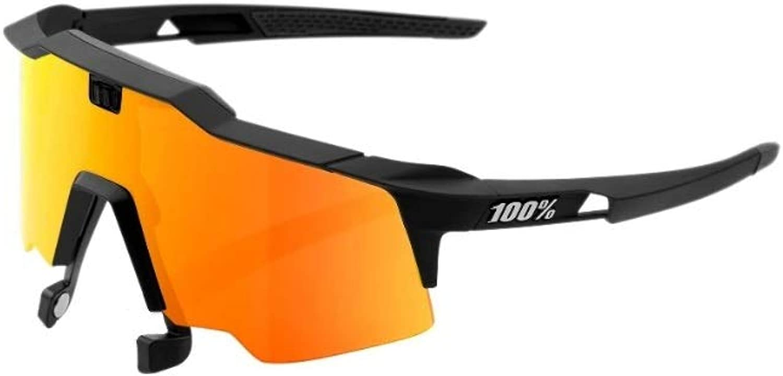 100% Speedcraft AIR Soft Tact Black HiPER Red Multilayer Mirror Lens