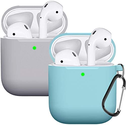 Compatible with AirPods Case Cover Silicone Protective Skin for Airpods Case 2 1 2 Pack Blue product image