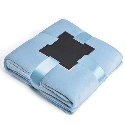 Cxssxling - Manta de felpa, 150 x 230 cm, color azul claro