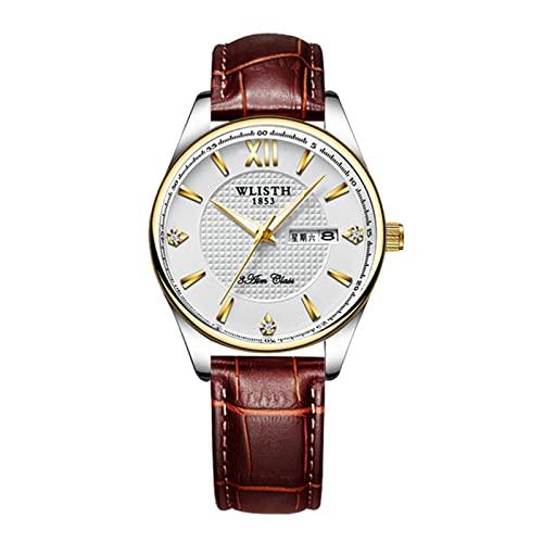 Personalidad de moda señoras reloj de pulsera doble escala de tiempo doble calendario mujeres cronógrafo 3ATM impermeable chica joven cuarzo movimiento relojes señoras reloj 4