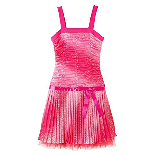 Amy's Closet Girl's Sleeveless Glitter Pink Party Dress - Size 18.5 Years
