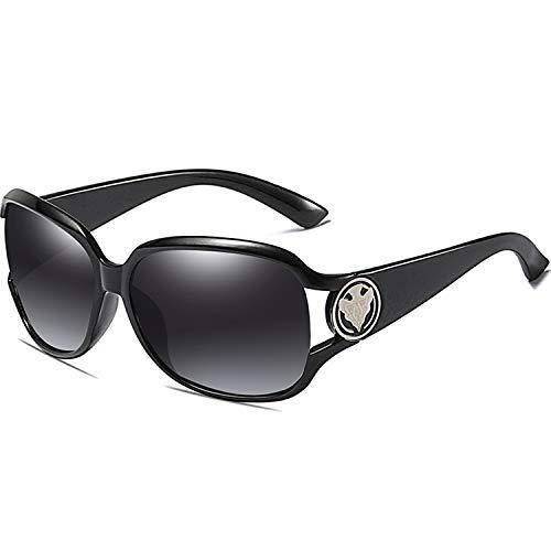 ATTCL W3043-BLACK - Occhiali da sole classici da donna, polarizzati, 100% protezione UV