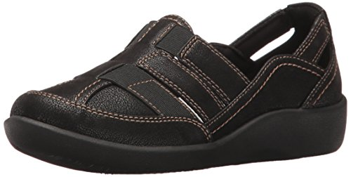 Clarks Women's Sillian Stork Fisherman Sandal, Black, 8.5 W US
