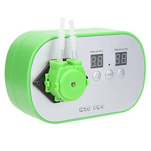 Zouminyy 【𝐏𝐚𝐬𝐜𝐮𝐚】 Dispositivo de Agua Sistema de riego automático Riego Inteligente por Goteo Sistema de sincronización de Bomba de Agua 100~240V 100mL/min Durable Práctico(EU Plug)
