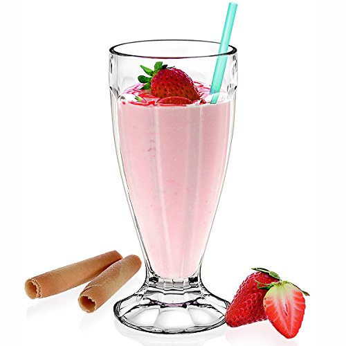 Milchshake Milchshake-Glas, 340 ml, American Diner Style