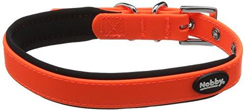 Nobby Cover Hundehalsband, neon orange, M-L