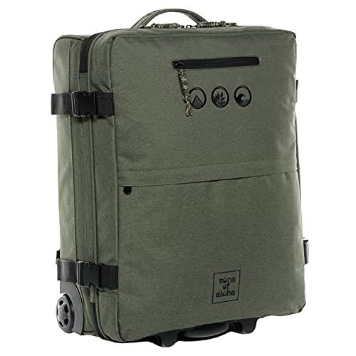 Valigia e zaino a mano KANE zaino trolley 2 in 1 - PET riciclato, idrorepellente - bagaglio d'imbarco ibrido con ruote 50 x 40 x 20 cm