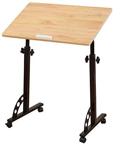 Verwisselbare Opslag Family Klaptafel Laptop Bureau Kinderen Bureau Sofa Kant Nachtkastje Desk Laptop Stand Folding (Color : Solid Wood Color)