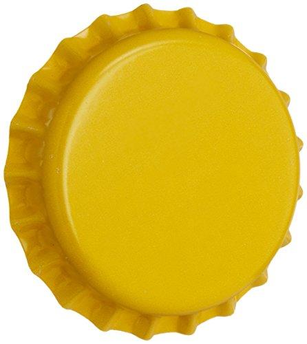 yellow beer bottle caps - 1