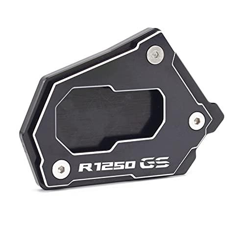 Accesorios de Motocicleta para BMW R1250 GS R 1250 GSA R 1250GS HP 2021 CNC Soporte Lateral CNC Ampliar extensión Kickstand R1250GS Motorbike (Color : R1250GS 2 Black)