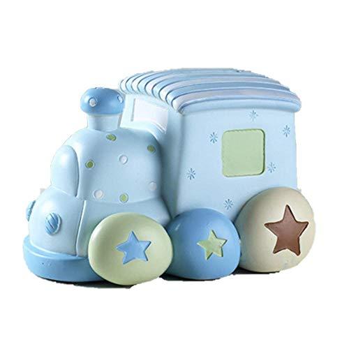 LIUKLAI Caja de Dinero alcancía Tren de Dibujos AnimadosEuropea Creativa Moda Hucha alcancía bebé súper Lindo Regalo de cumpleaños 50aa049