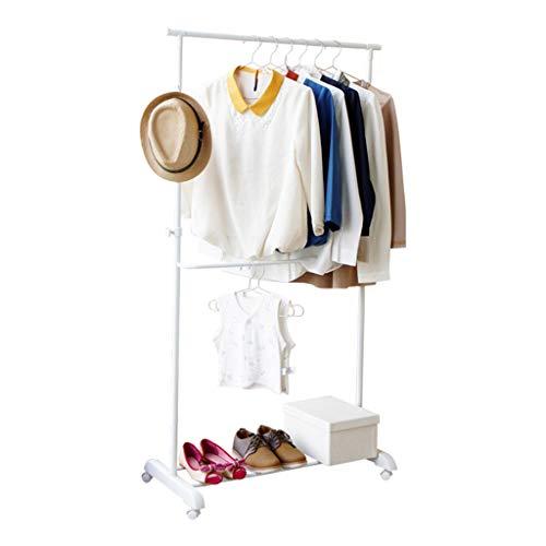 ZHICHII C-J-Xin balkon kledinghanger, wit vloerstandaard, multifunctionele wasdroger, slaapkamer, kledingrek, enkele shot woonkamer, garderobe droogrek