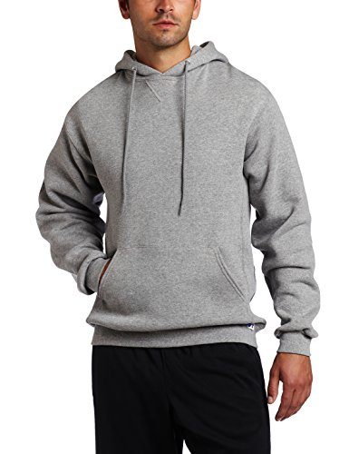 Russell Athletic Men's Dri Power Hooded Pullover Sweatshirt, Oxford, X-Large, grey