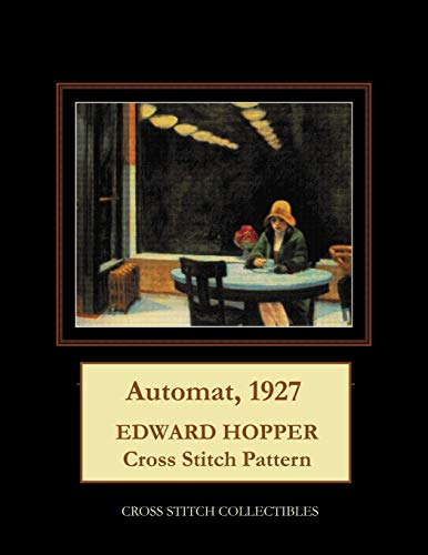 Automat, 1927: Edward Hopper cross stitch pattern