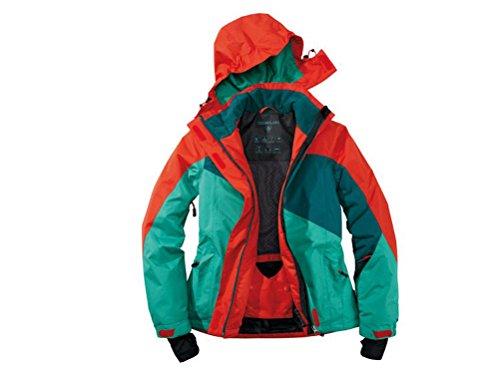Damen Skijacke Snowboardjacke Grösse 42 grün rot