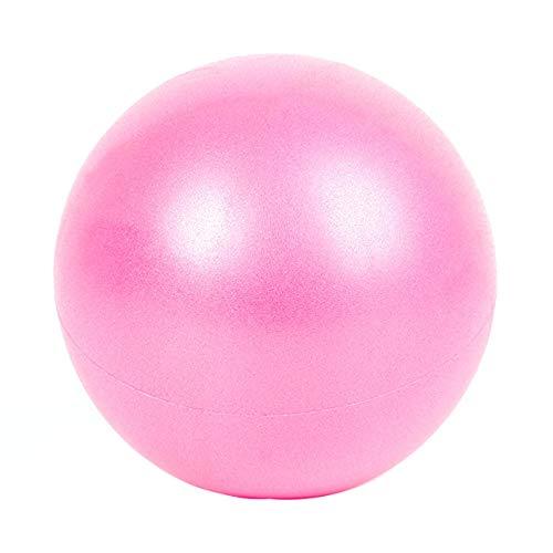 Totkakka Grueso 25CM PVC Yoga Fitness Ball Pelotas de Yoga Antideslizantes Profesionales Balance Sport Fitball Proof Ball para Ejercicio en casa - Rosa