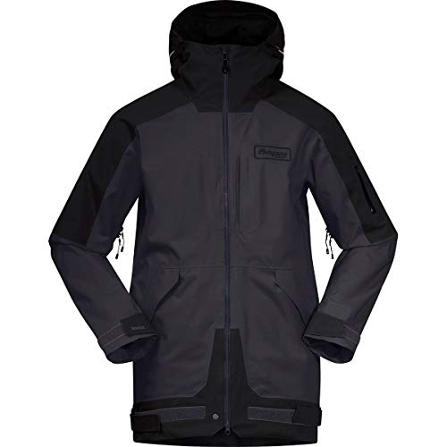 Bergans Herren Myrkdalen V2 Insulated Jacke, solidcharcoal-Black-Yellow, XL